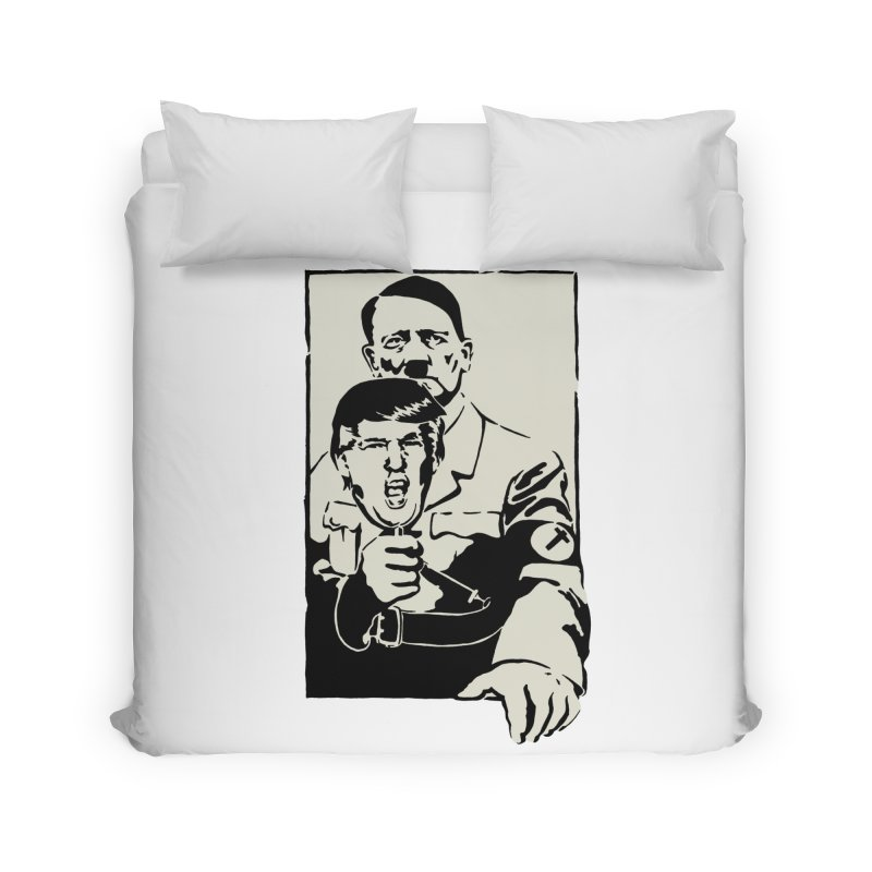 Hitler with Trump mask (based on 1968 Paris Riots Poster) Home Duvet by StencilActiv's Shop