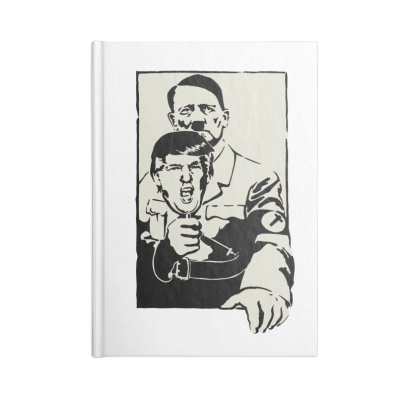 Hitler with Trump mask (based on 1968 Paris Riots Poster) Accessories Notebook by StencilActiv's Shop