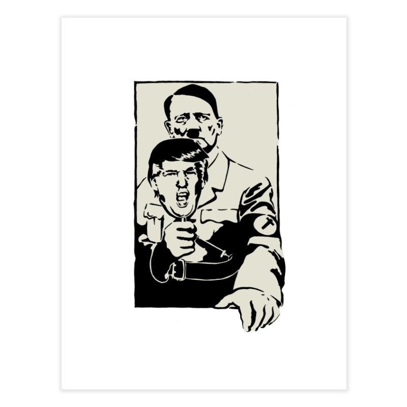 Hitler with Trump mask (based on 1968 Paris Riots Poster) Home Fine Art Print by StencilActiv's Shop