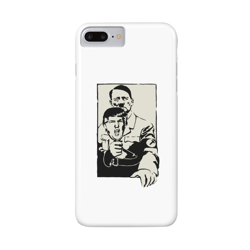 Hitler with Trump mask (based on 1968 Paris Riots Poster) Accessories Phone Case by StencilActiv's Shop