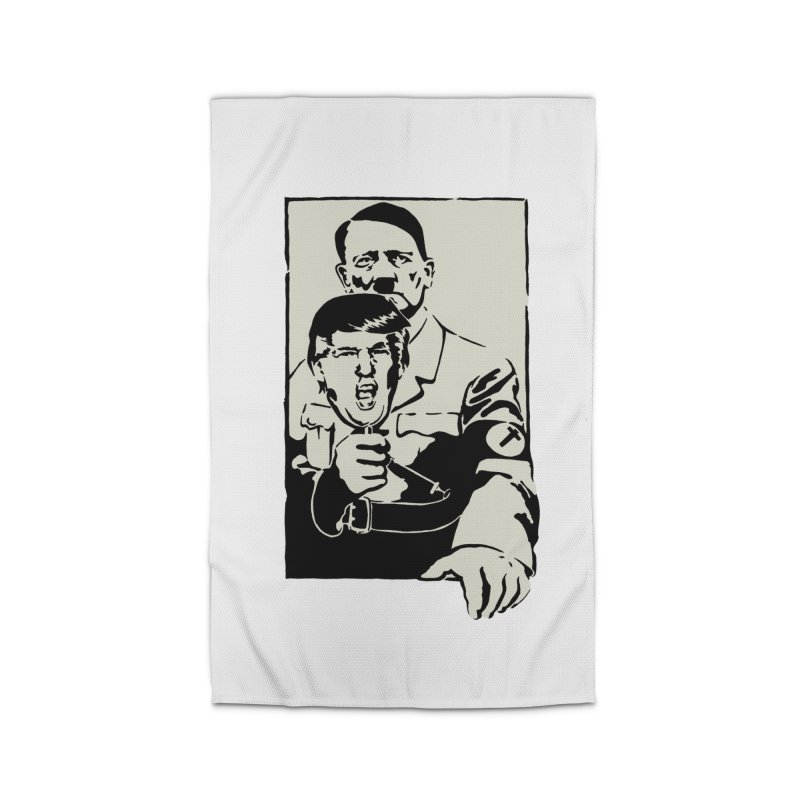 Hitler with Trump mask (based on 1968 Paris Riots Poster) Home Rug by StencilActiv's Shop