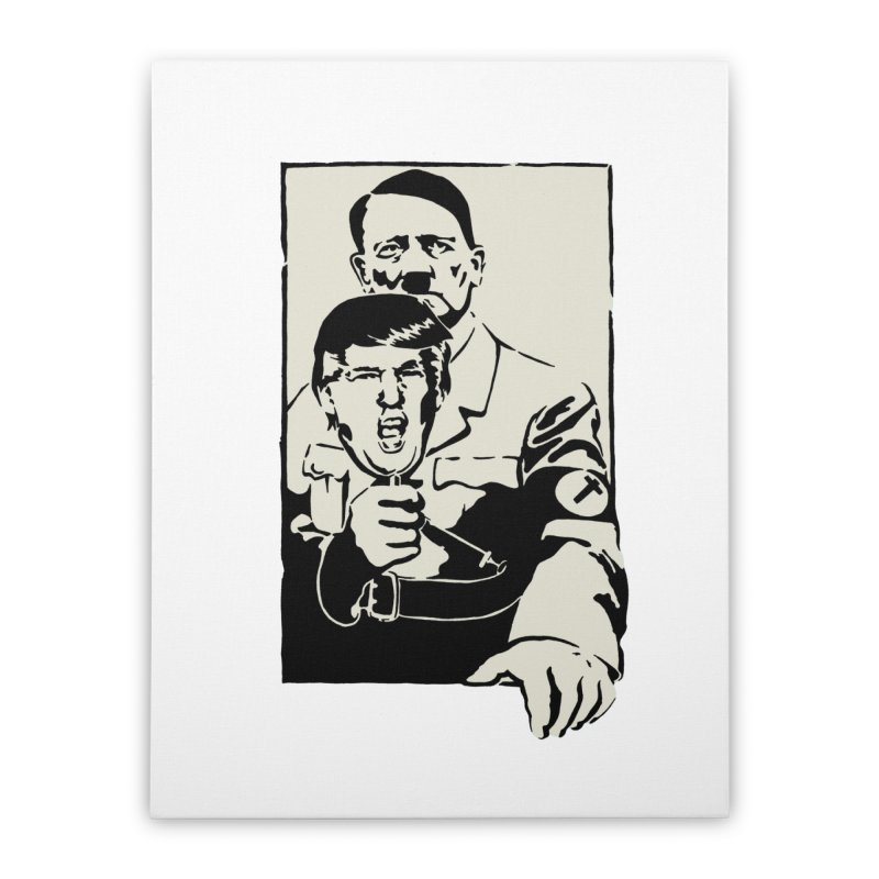 Hitler with Trump mask (based on 1968 Paris Riots Poster) Home Stretched Canvas by StencilActiv's Shop