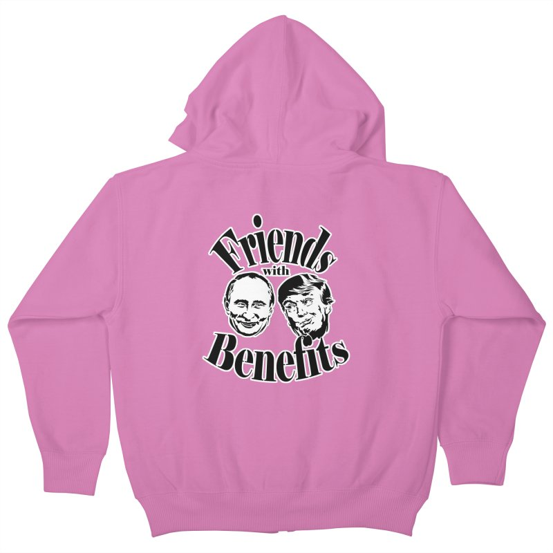 Friends with Benefits Kids Zip-Up Hoody by StencilActiv's Shop