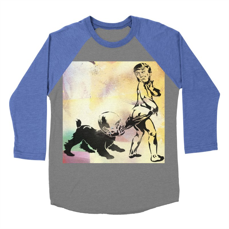 Coppertone Trump/Putin Men's Baseball Triblend T-Shirt by StencilActiv's Shop