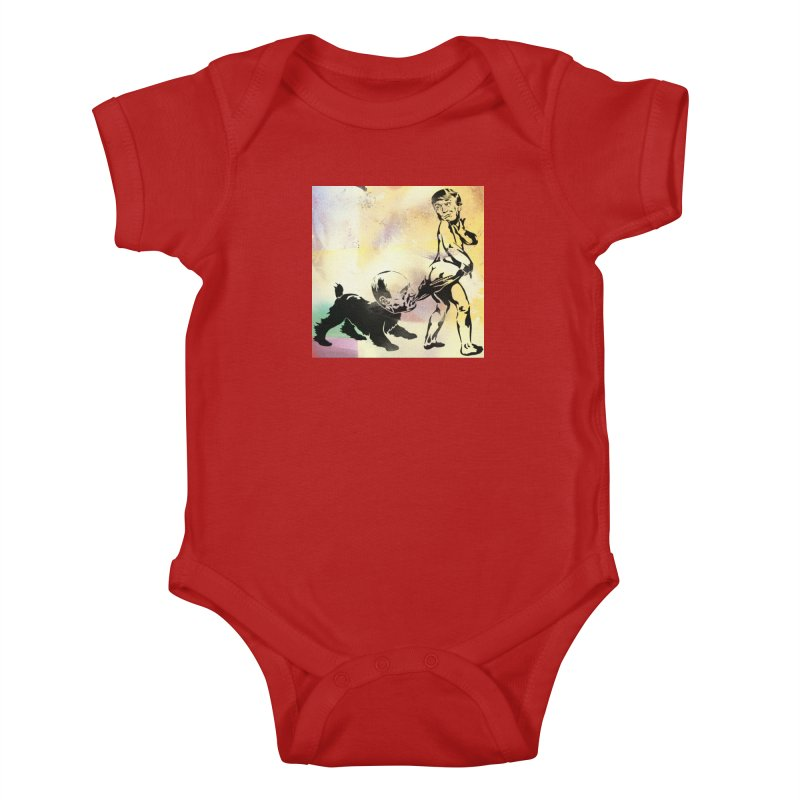Coppertone Trump/Putin Kids Baby Bodysuit by StencilActiv's Shop