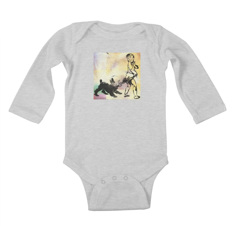 Coppertone Trump/Putin Kids Baby Longsleeve Bodysuit by StencilActiv's Shop