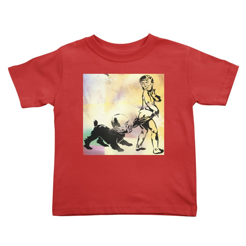 Coppertone Trump/Putin Kids Toddler T-Shirt by StencilActiv's Shop