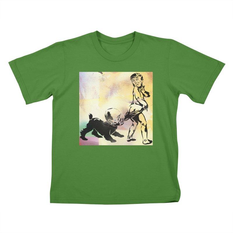 Coppertone Trump/Putin Kids T-Shirt by StencilActiv's Shop