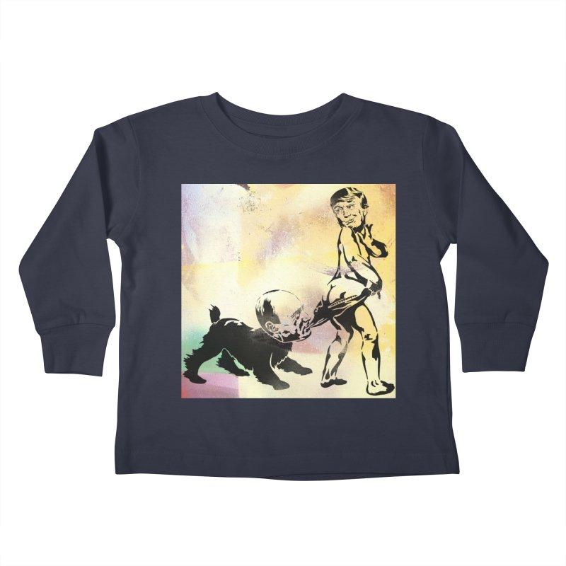 Coppertone Trump/Putin Kids Toddler Longsleeve T-Shirt by StencilActiv's Shop