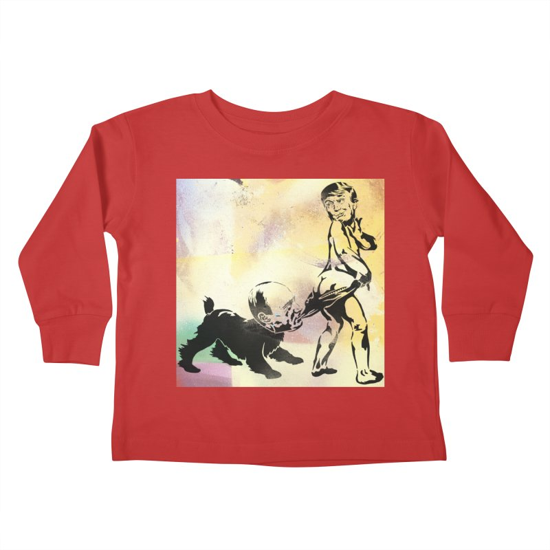 Coppertone Trump/Putin Kids Toddler Longsleeve T-Shirt by StencilActiv's Shop