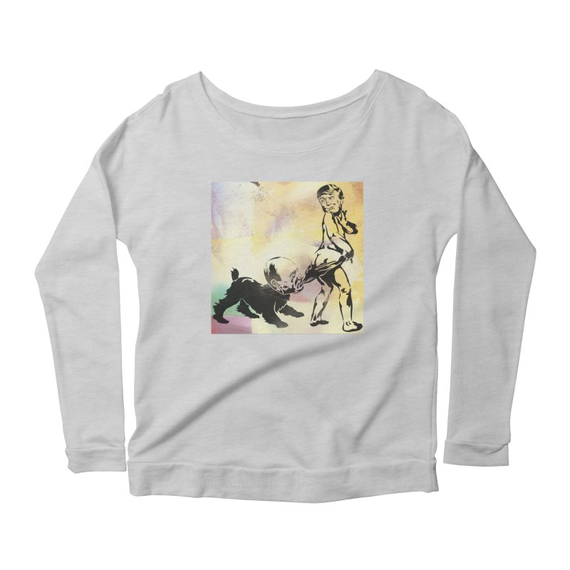 Coppertone Trump/Putin Women's Longsleeve Scoopneck  by StencilActiv's Shop