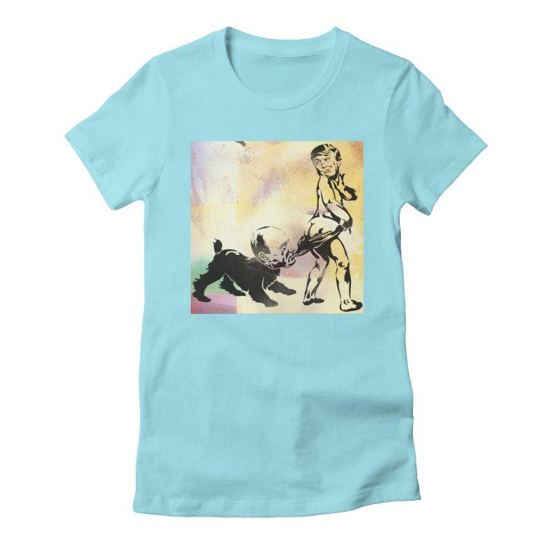 Coppertone Trump/Putin Women's Fitted T-Shirt by StencilActiv's Shop