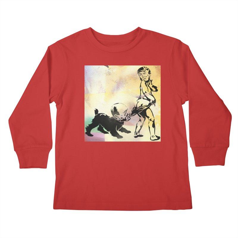Coppertone Trump/Putin Kids Longsleeve T-Shirt by StencilActiv's Shop