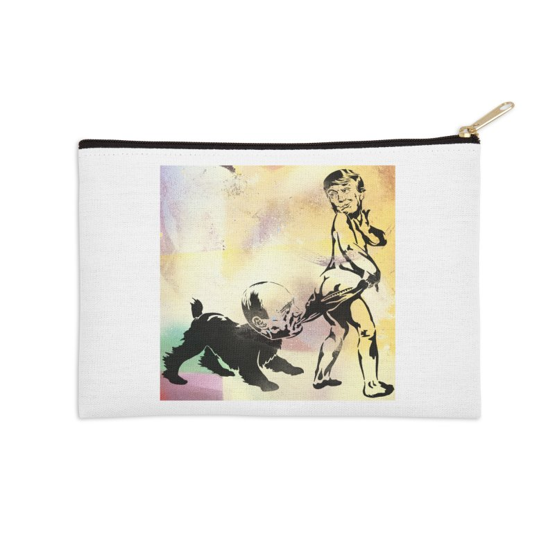Coppertone Trump/Putin Accessories Zip Pouch by StencilActiv's Shop