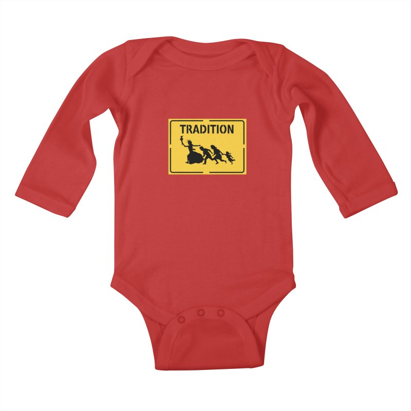 An American Tradition Kids Baby Longsleeve Bodysuit by StencilActiv's Shop
