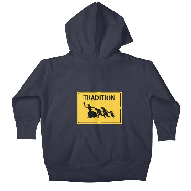 An American Tradition Kids Baby Zip-Up Hoody by StencilActiv's Shop