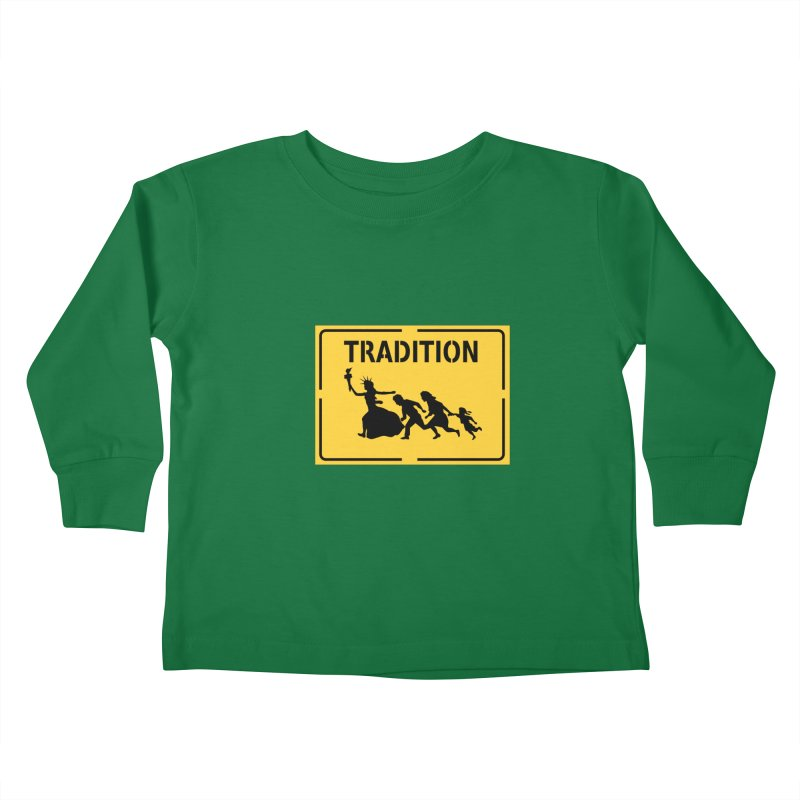 An American Tradition Kids Toddler Longsleeve T-Shirt by StencilActiv's Shop