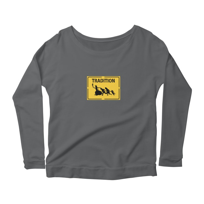 An American Tradition Women's Longsleeve Scoopneck  by StencilActiv's Shop