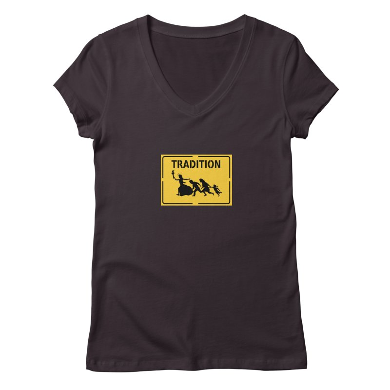 An American Tradition Women's V-Neck by StencilActiv's Shop