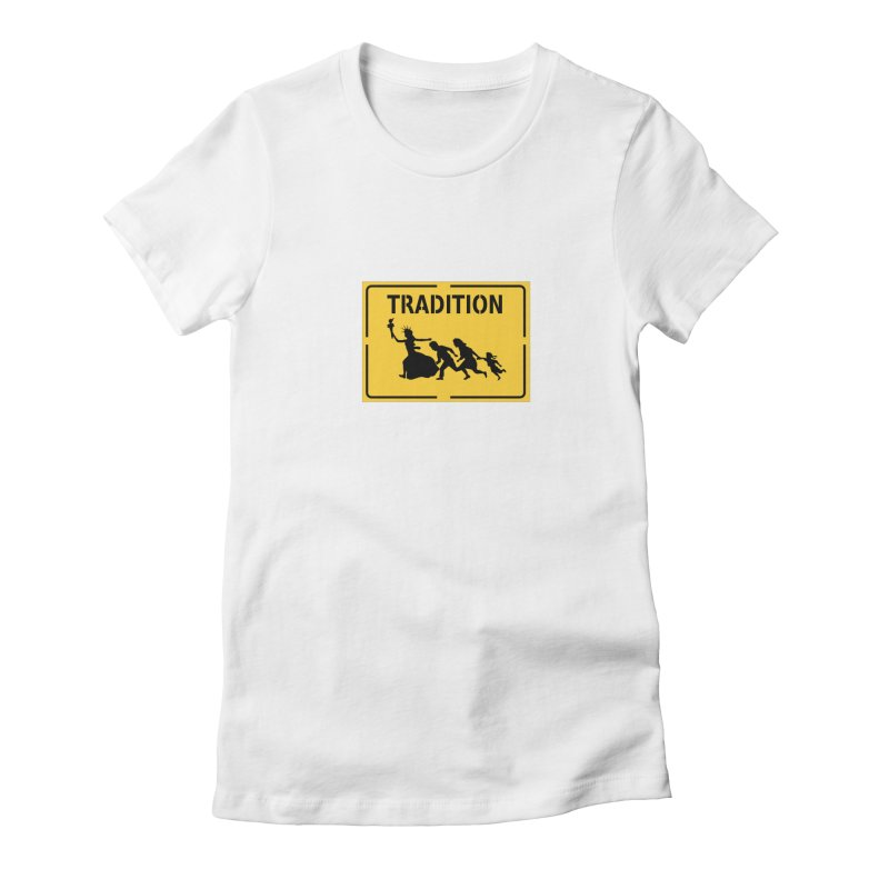 An American Tradition Women's Fitted T-Shirt by StencilActiv's Shop