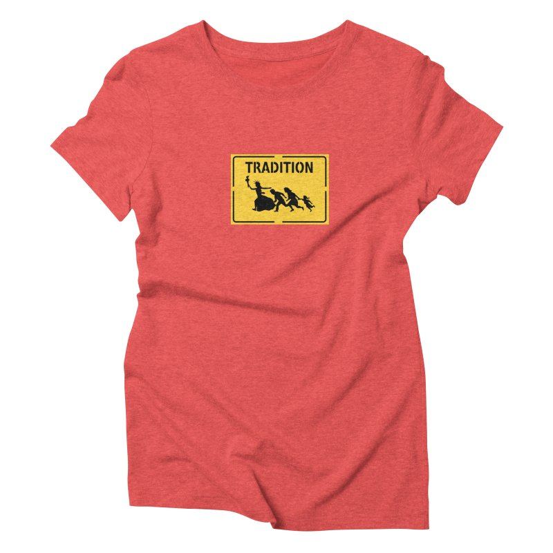An American Tradition Women's Triblend T-shirt by StencilActiv's Shop