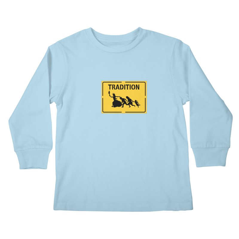 An American Tradition Kids Longsleeve T-Shirt by StencilActiv's Shop