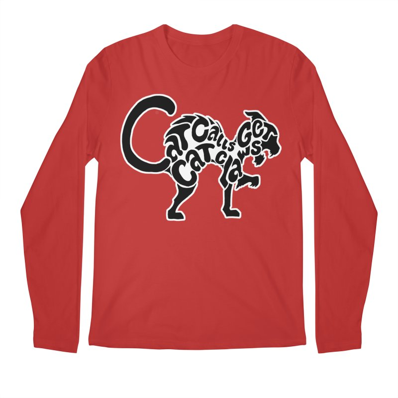 Cat Calls Get Cat Claws Men's Longsleeve T-Shirt by StencilActiv's Shop