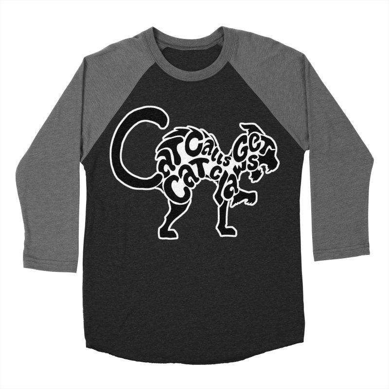 Cat Calls Get Cat Claws Men's Baseball Triblend T-Shirt by StencilActiv's Shop