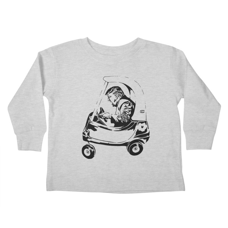 Trump Car(d) Kids Toddler Longsleeve T-Shirt by StencilActiv's Shop
