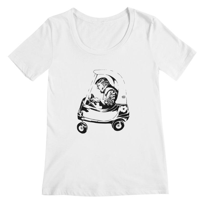 Trump Car(d) Women's Scoopneck by StencilActiv's Shop