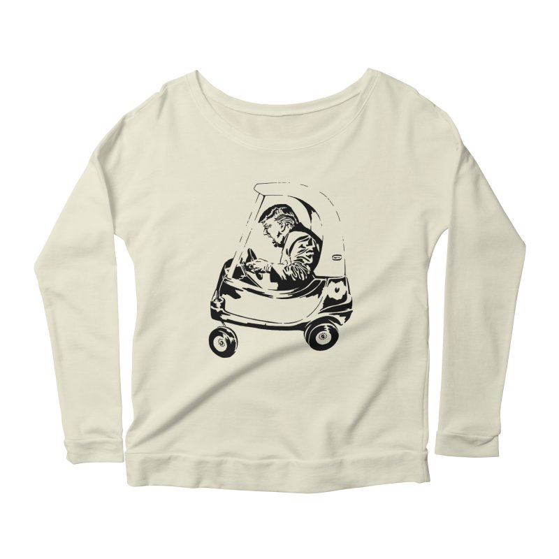 Trump Car(d) Women's Longsleeve Scoopneck  by StencilActiv's Shop