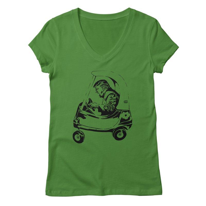 Trump Car(d) Women's V-Neck by StencilActiv's Shop