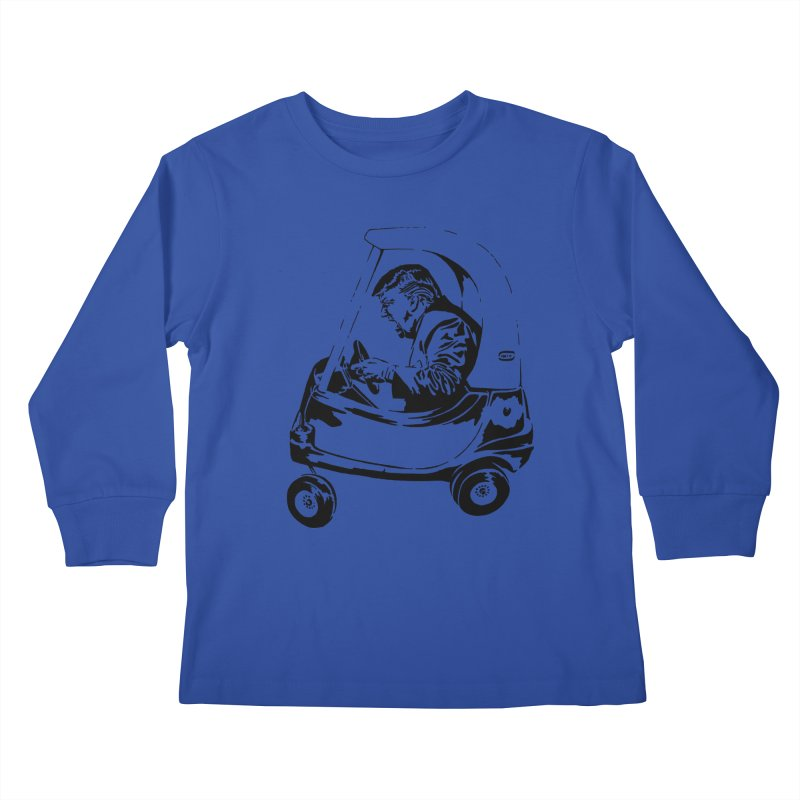 Trump Car(d) Kids Longsleeve T-Shirt by StencilActiv's Shop