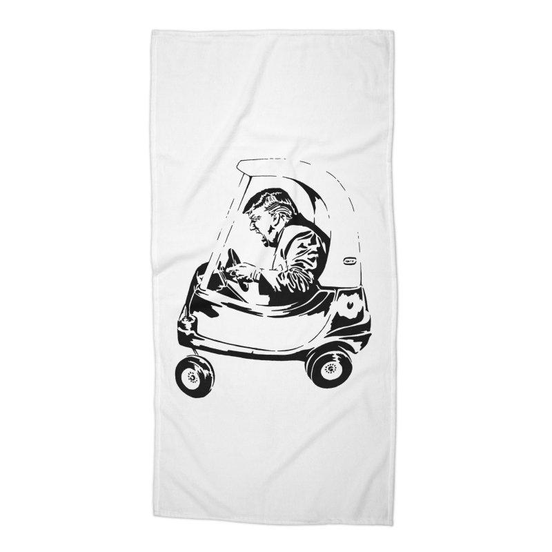 Trump Car(d) Accessories Beach Towel by StencilActiv's Shop