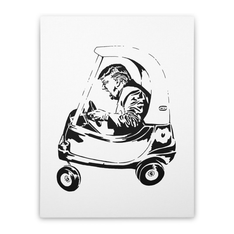 Trump Car(d) Home Stretched Canvas by StencilActiv's Shop