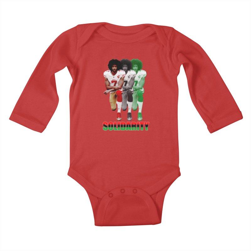 Solidarity Kids Baby Longsleeve Bodysuit by StencilActiv's Shop