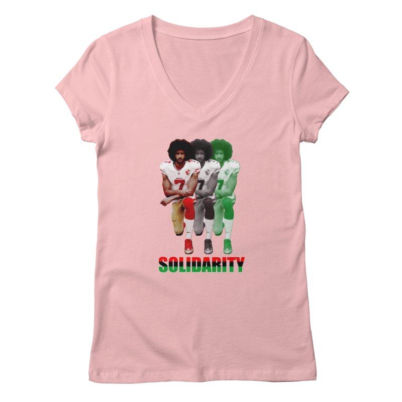 Solidarity Women's V-Neck by StencilActiv's Shop