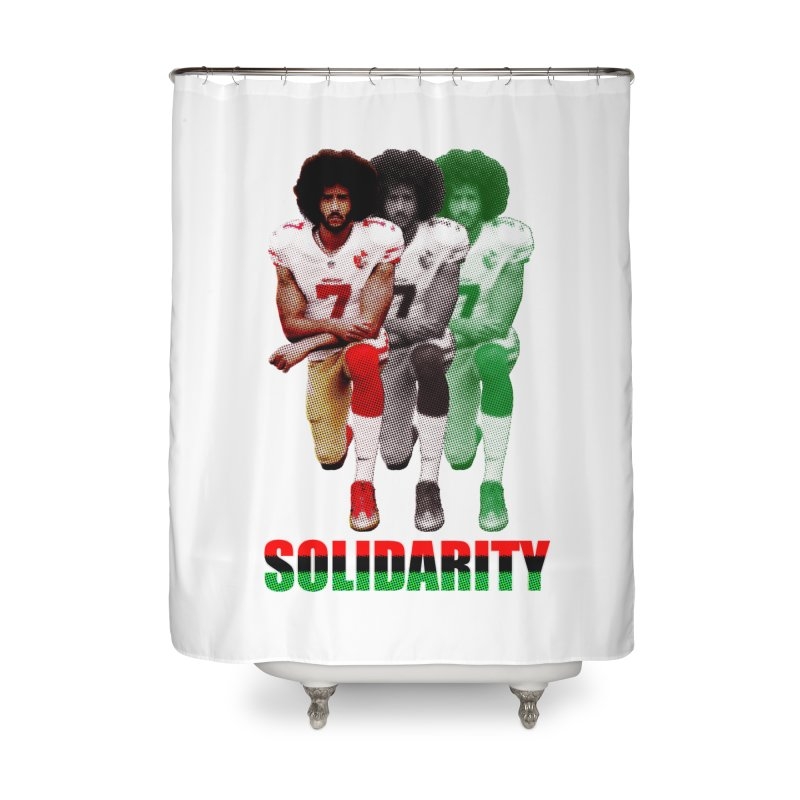 Solidarity Home Shower Curtain by StencilActiv's Shop