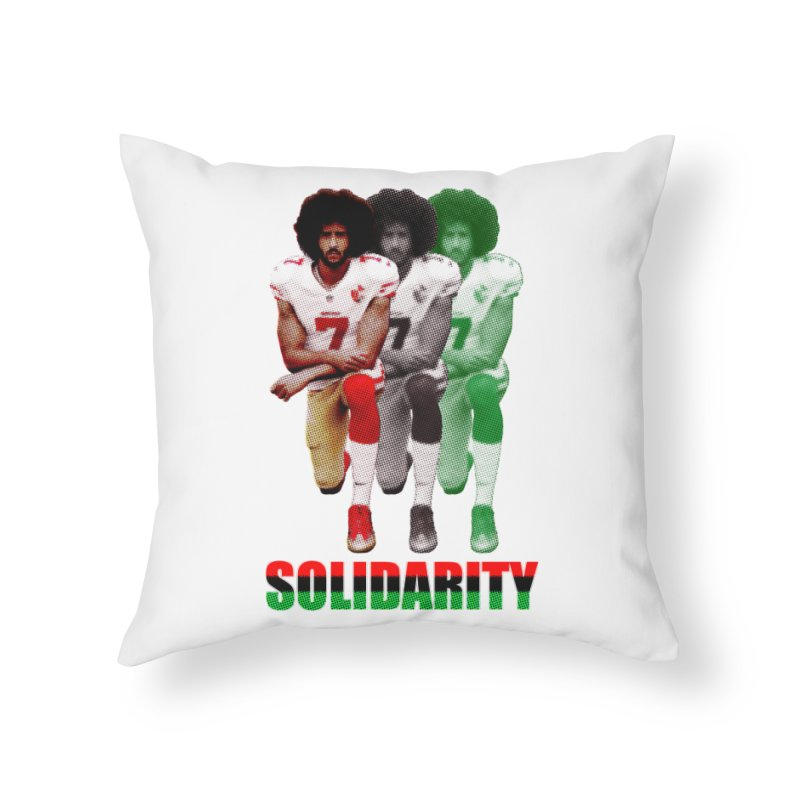 Solidarity Home Throw Pillow by StencilActiv's Shop