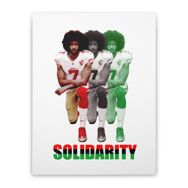 Solidarity Home Stretched Canvas by StencilActiv's Shop