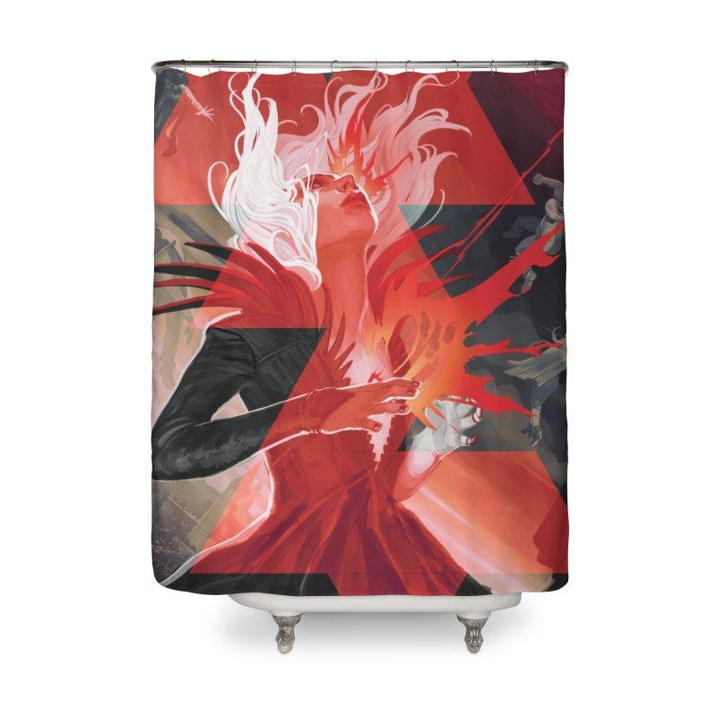 DIE #1 Home Shower Curtain by StephanieHans's Artist Shop