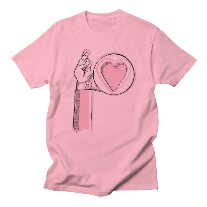 Heart on you sleeve Men's Regular T-Shirt by Stephen Harris Designs