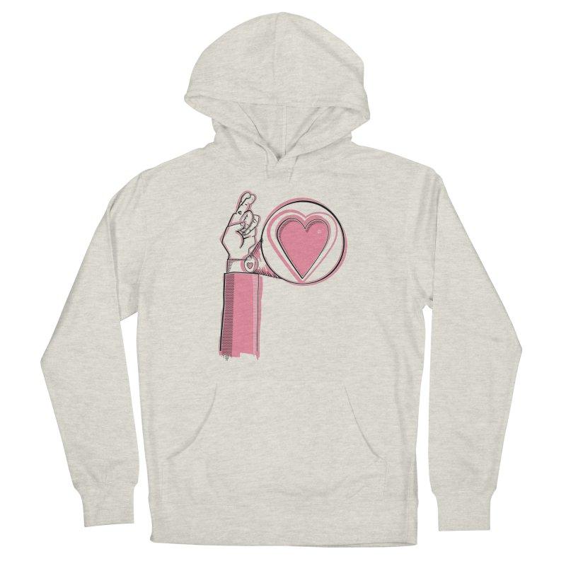 Heart on you sleeve Men's French Terry Pullover Hoody by Stephen Harris Designs