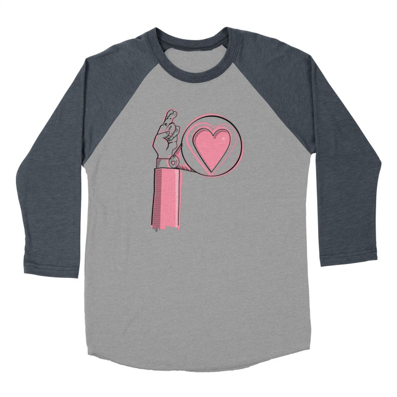 Heart on you sleeve Men's Baseball Triblend Longsleeve T-Shirt by Stephen Harris Designs