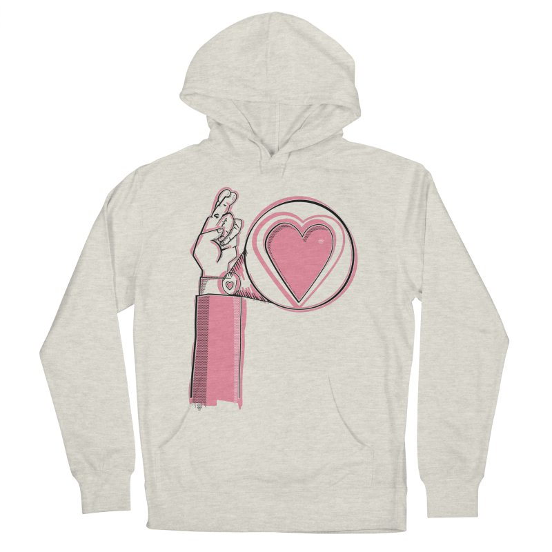Heart on you sleeve Women's French Terry Pullover Hoody by Stephen Harris Designs
