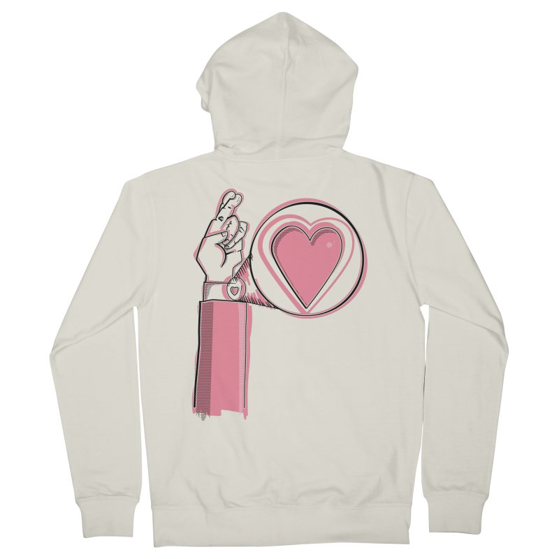 Heart on you sleeve Men's French Terry Zip-Up Hoody by Stephen Harris Designs