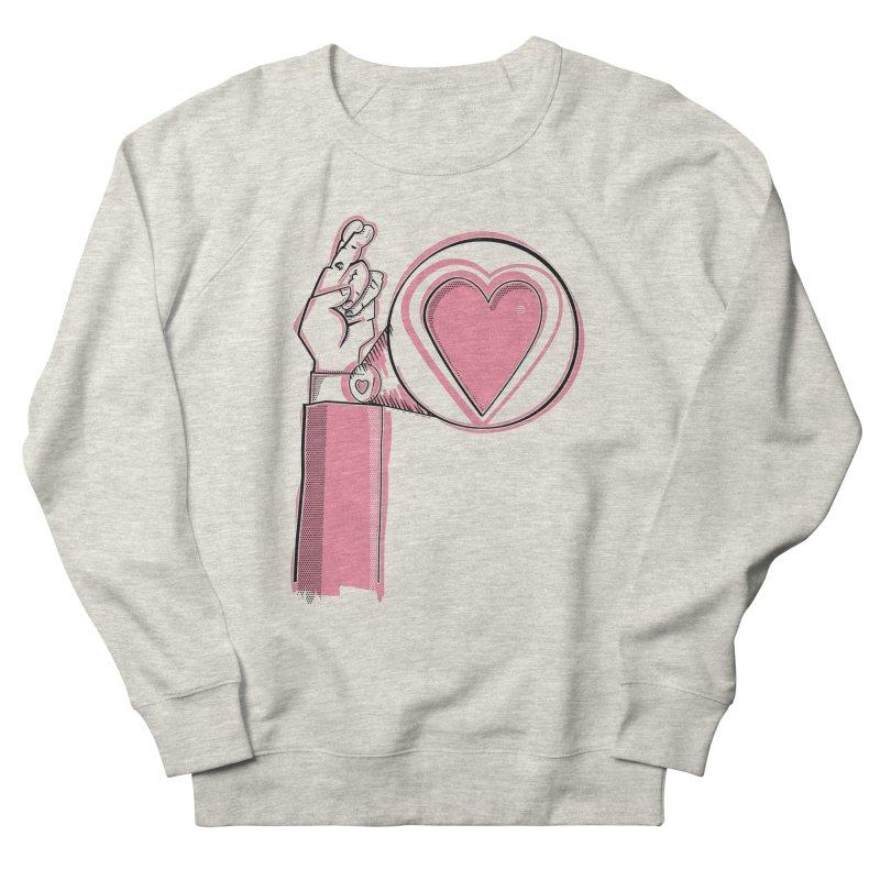 Heart on you sleeve Women's French Terry Sweatshirt by Stephen Harris Designs
