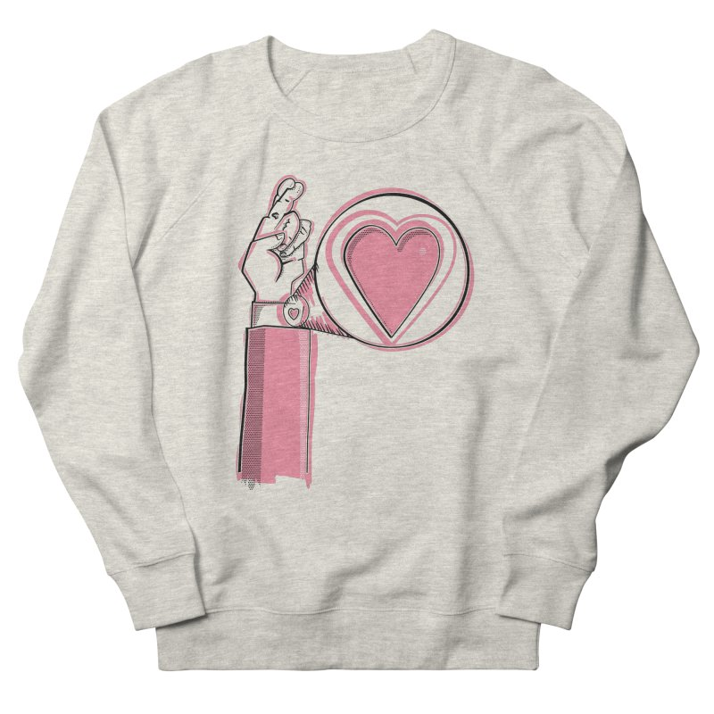 Heart on you sleeve Men's French Terry Sweatshirt by Stephen Harris Designs