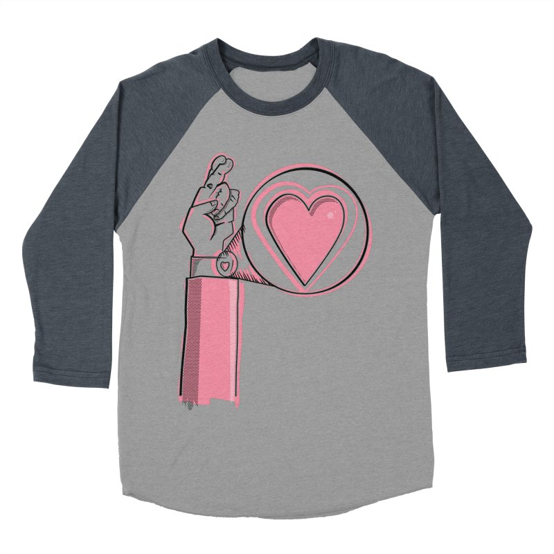 Heart on you sleeve Women's Baseball Triblend Longsleeve T-Shirt by Stephen Harris Designs