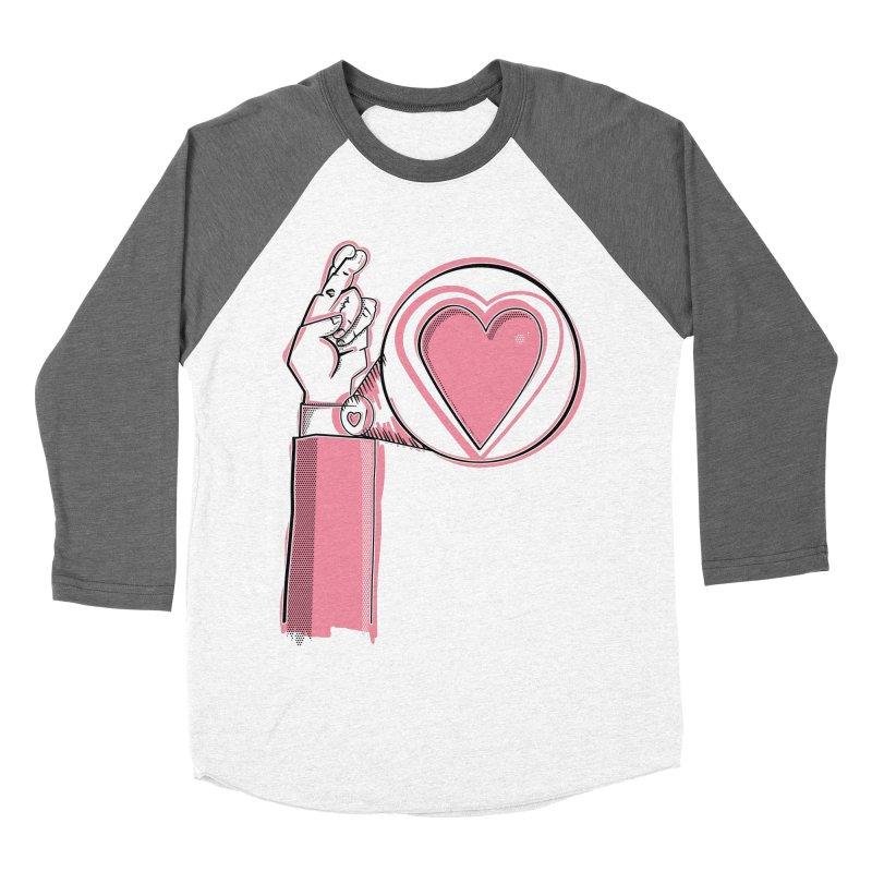 Heart on you sleeve Men's Baseball Triblend Longsleeve T-Shirt by Stephen Harris Designs